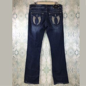 Miss Me Embellished Jeweled Bootcut Jeans 32